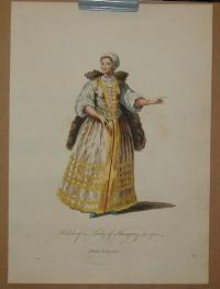 Habit of a Lady of Hungary, in 1700