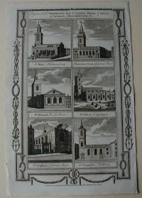 Thorton William: London churches. St. Mary. St. Lawrence Jewry. St. Michael. St. Giles's. St. Stephens. St.Margarets