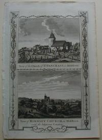 Thorton William: View of the Churc of St. Pancrass, in Middlesex. View of Hornsey-Church , in Middlesex