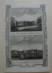 Thorton William: View of Dulwich-College, in Surrey. View of Camberwell, from the grove