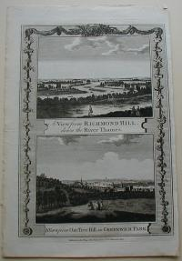 Thorton William: A View from Richmond Hill, down the River Thames. A View from One Tree Hill, in Greenwich Park