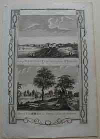 Thorton William: View of Wandsworth in Surrey. View of Clapham, in Surrey