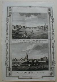 Thorton William: View of Putney and Fulham the former in Surry and the latter in Middlesex. View of Hackney, in Middlesex