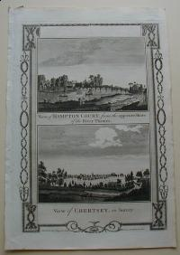 Thorton William: View of Hampton Court, from the opposite Shore of the River Thames. View of Chertsey, in Surrey