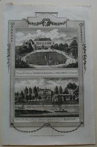 Thorton William: View of the Seat of Admiral Keppel at Bagshot in Surrey. View of the Seat of the late David Garrick at Hampton, with the Temple of Shakespeare