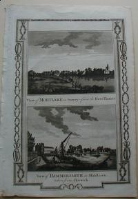 Thorton William: View of Mortlake in Surrey. View of Hammersmith in Middlesex
