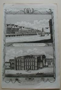 Thorton William: An Antient View of part of Cheapside, with the Cross, as they appeared in the Year 1660
