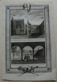 Thorton William: View of Guild-Hall Chapel. West View of Blackwell Hall. View of Gresham College