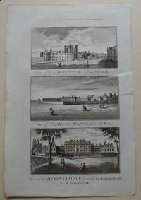 Thorton William: View of St. James's Palace, from Pall Mall. View of the Queen's Palace, formerly Buckingham House, in St. James's Park