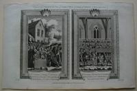 Thorton William: The Ceremony of Laying the First Stone of Black Friars Bridge. The Ceremony of Performing the Champion's Challenge, at the Coronation in Wetminster Hall