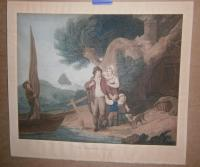 WHEATLEY, Francis (artist)-Joseph BARNEY ( Engraver): The Fisherman Going Out; The Fisherman Returns